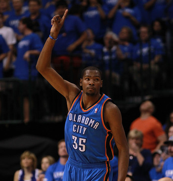 Kevin Durant hopes that when this season ends he and the Thunder will be number one.