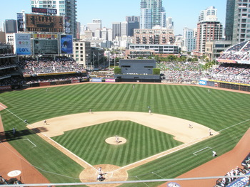 Game Action at PETCO Park