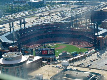 Busch Stadium from Above