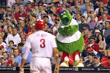 Phillie Phanatic Performs at the Bank