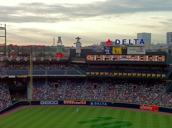 Evening in Atlanta at Turner Field