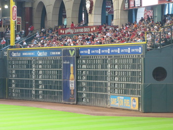 The High Left Field Wall at Minute Maid Park