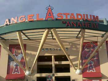 Entrance to Angels Stadium