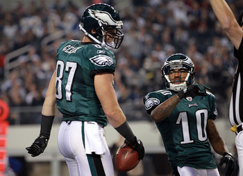 Brent Celek and DeSean Jackson combined for 9 of the Eagles 22 passing touchdowns.