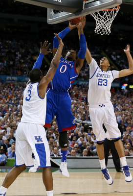 Davis and Jones Shutting Down KU's Thomas Robinson