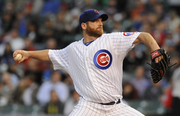Ryan Dempster's 1.02 ERA currently leads the major leagues.