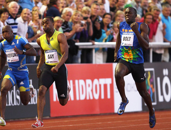 Bolt is the undisputed fastest man in the world at the moment, but Gay beat him two years ago in Stockholm.