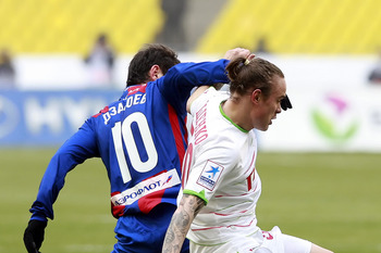 Alan Dzagoev in CSKA Moscow vs. Lokomotiv Moskva match.