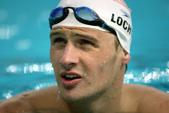 Lochte in his element.
