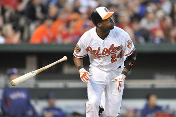Adam Jones has already launched 10 home runs.