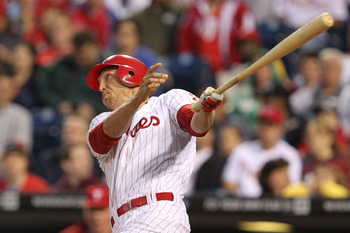 Hunter Pence leads the Phillies in home runs and RBI.