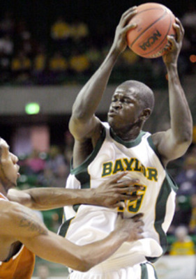 Mamadou Diene, one of players on the 2005 Baylor basketball team. Courtesy of draftexpress.com