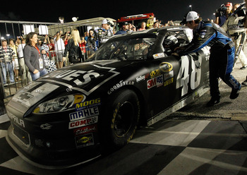Jimmie Johnson claimed his first win of 2012 Saturday night at Darlington