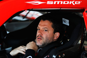 Tony Stewart fought his way to a third-place finish at Darlington
