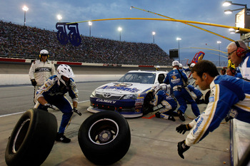 Mark Martin was a non-factor Saturday night at Darlington