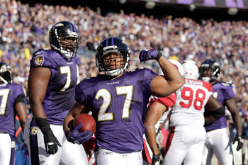 Ray Rice and the Ravens erased a 24-6 second-half deficit and beat the Cardinals in 2011.