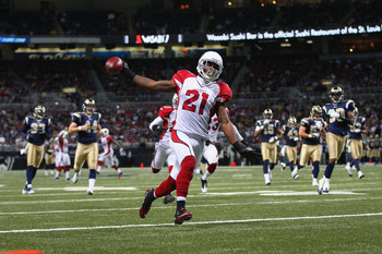 Patrick Peterson's kick return for a touchdown helped the Cardinals sweep the Rams in 2011.