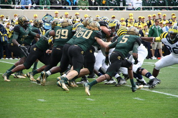 Michigan at Michigan State in 2011.