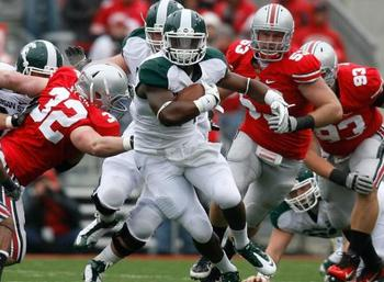 Michigan State at Ohio State in 2011.