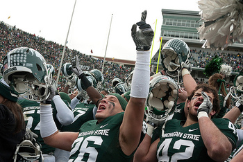 Michigan State defeated Indiana 55-3 in 2011.