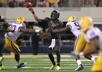 QB Darron Thomas and Oregon vs. LSU.