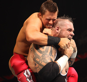The Miz vs. Brodus Clay (Image courtesy of WWE.com)