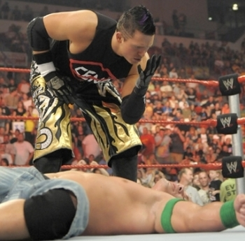 John Cena and The Miz (courtesy of Fanpop.com)
