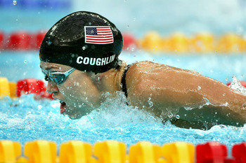 In the 2008 200-meter Individual Medley, Coughlin took home a bronze medal.