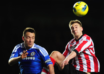 Bendtner: Didn't quite reach new heights at the Stadium of Light