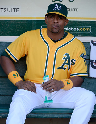 The 25-year-old Cespedes is looking very comfortable in Oakland