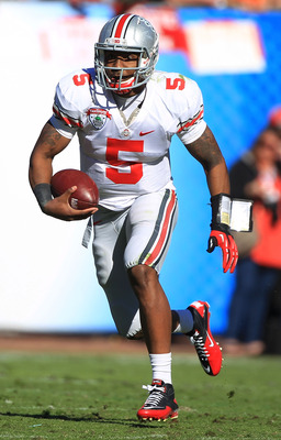 Quarterback Braxton Miller may not run with the ball much when you consider the talent around him.