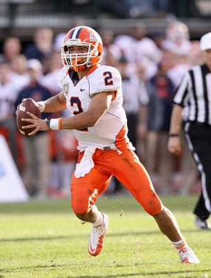 The Fighting Illini's 2012 fate rests in the arm and legs of quarterback Nathan Scheelhaase.