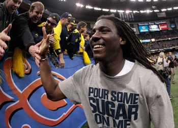 Denard's familiar smile after the Sugar Bowl
