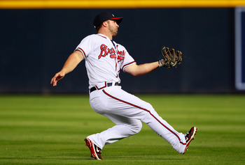 Dan Uggla's power is a bit down but he is on pace to near 100 RBI.
