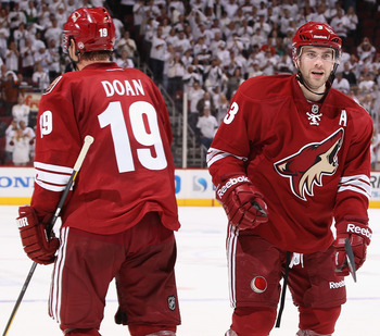Coyotes captain Shane Doan and all-star defenseman Keith Yandle helped Phoenix advance to the Western Conference Final this season.