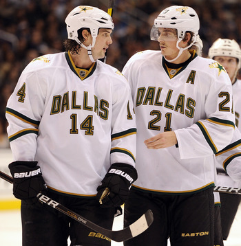 Stars forwards Jamie Benn (#14) and Loui Eriksson (#21) emerged as big time players in Dallas this season.