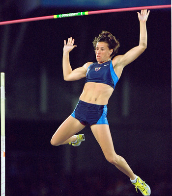 Stacy Dragila was the first ever Olympic women's pole vault champion.