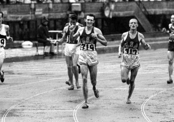 Schul surged from behind to win the 5,000 meters in 1964. (Lacey photo)