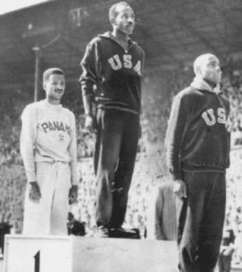 Harrison Dillard was inspired by Jesse Owens. (Plain Dealer photo)