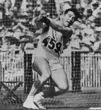 Hammer thrower Harold Connolly picked one of the 15 event wins for American men in Melbourne.