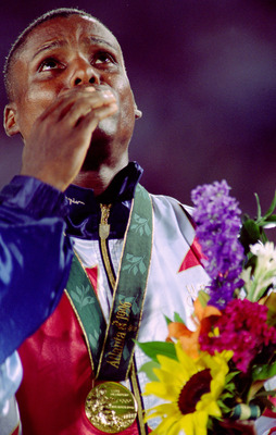 At age 35, Carl Lewis won another gold medal.