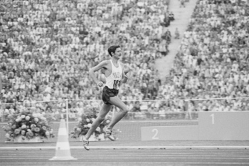 Frank Shorter became the first American to win the Olympic Marathon in 64 years.
