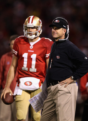 Jim Harbaugh is developing Alex Smith into a good QB
