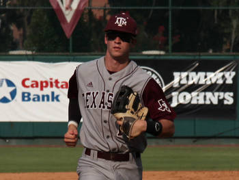 Texas A&M OF Tyler Naquin // Courtesy of aggieathletics.com