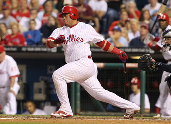 Phillies catcher Carlos Ruiz has been one of the top hitters in the NL this season.