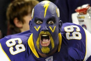 Vikings fans have reason to be as excited as this guy.