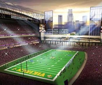 The Minnesota Vikings will be playing in a new stadium in 2016.
