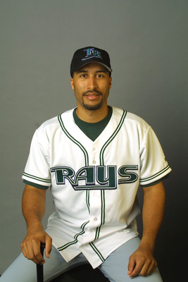 Randy Winn, who looks very excited about being a D-Ray in this picture