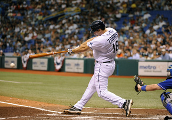 Zobrist's two-run home run provided the winning runs in the Rays' 2-1 victory over the Blue Jays