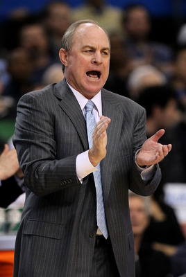 LOS ANGELES, CA - MARCH 01:  Head coach Ben Howland of the UCLA Bruins applauds during the game with the Washington State Cougars at the LA Sports Arena on March 1, 2012 in Los Angeles, California.  (Photo by Stephen Dunn/Getty Images)